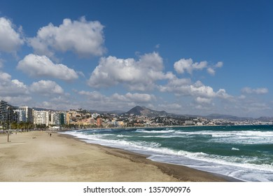 Malaga beach on the Costa Del Sol
