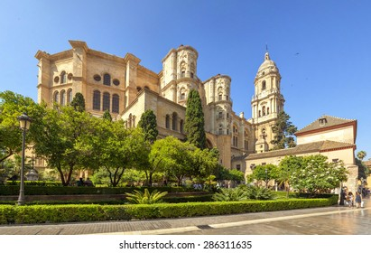Malaga Cathedral in Andalusia, Spain.
