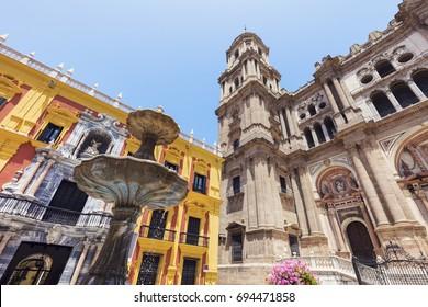 Malaga Cathedral. Malaga, Andalusia, Spain.