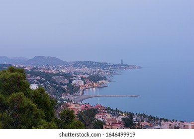 Malaga, a panoramic view of the city seen from the Gibralfaro viewpoint.