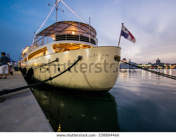 MALAGA, SPAIN - AUGUST 08: Malaga port on August 08, 2015 in Malaga, Spain. It is the second most populous city of Andalusia and the sixth largest in Spain.