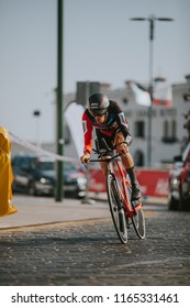 MALAGA, SPAIN - August 25th, 2018: Alessandro De Marchi, from BMC Racing Cycling Team, during first stage of La Vuelta 2018 in the city of Malaga, Spain.