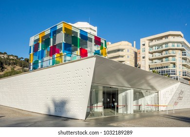 MALAGA, SPAIN- JANUARY 22,2018: Cultural center, Centre Pompidou,Malaga, Spain.