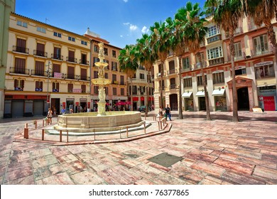 MALAGA, SPAIN - JULY 8:Tourists walk around the historic center of Malaga on July 8, 2010 The administrative center in Andalusia of the province of Malaga, Spain, the population is 561,250 people (2007).