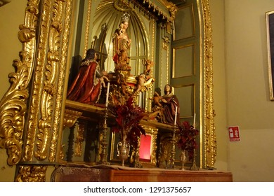 MALAGA, SPAIN - NOV 24, 2018 - Chapel of the Virgin of the Monarchs in the Cathedral of Malaga, Spain