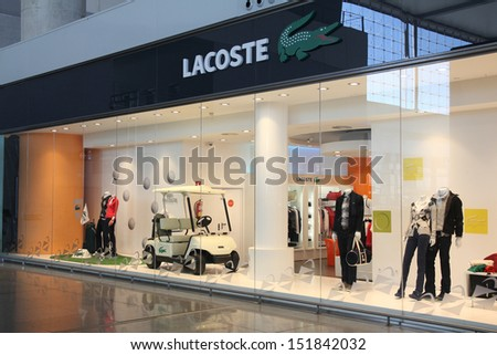 e2f9664b4a4b4 MALAGA SPAIN OCTOBER 14 Lacoste Store Stock Photo (Edit Now ...