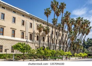 Malaga,Spain on 23rd Mar 2019:The Museo de Malaga,opened in Dec 2016 in the Palacio de la Aduana. It has brought together the former Museo Provincial de Bellas Artes and Museo Arqueológico Provincial
