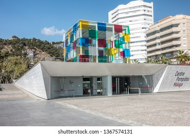 Malaga,Spain on 25 Mar 2019:The Centre Pompidou is the first branch outside France.The Malaga centre will hold some 80 paintings and photographs including Pablo Ruiz Picasso & other world class artist