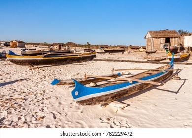 The Malagasy fishing village of Tsiandamba in Toliara region, southwestern Madagascar