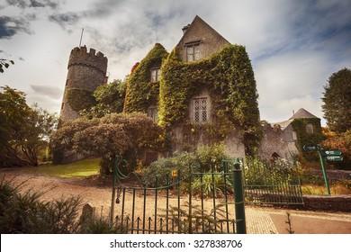 Malahide castle near Dublin by autumn