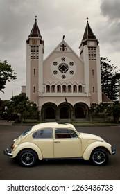 Malang, East Java / Indonesia - November 16, 2011 : Volkswagen Beetle 1500 year 1968