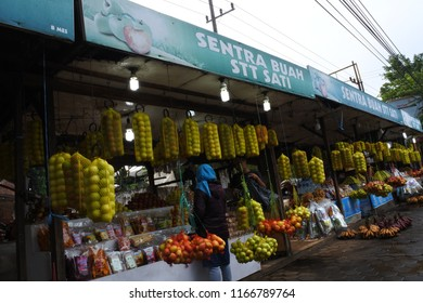 malang-June 20, 2018: a lot of typical Malang souvenirs located on the roadside around Singosari, East Java, Indonesia