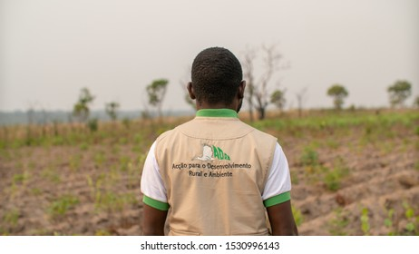 Malanje , Angola - August 30TH 2019: Unidentified contributor to an angolan Non-Governmental Organization. ADRA - Action for Rural Development and Environment. Editorial illustrative.