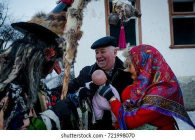 The Malanka festival celebration/A shepherd/Krasnoilsk, Ukraine, January 2017