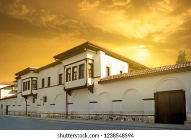 Malatya historical houses at sunrise, Battalgazi , Malatya , Turkey