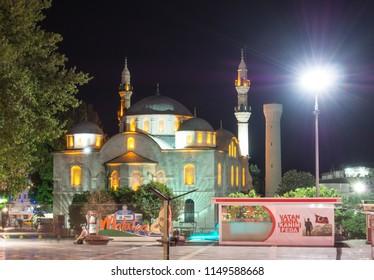 MALATYA, TURKEY - 22 APRIL 2018: View of the Grand Mosque (Ulu Cami), the central of Malatya,
