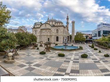 Malatya, Turkey - October 31, 2017 : Yeni Mosque view in Malatya City. Yeni Mosque is populer tourist attraction in Malatya City.