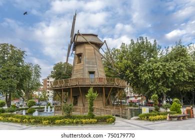 Malatya, Turkey - October 31, 2017 : Malatya City Kernek Park view in Malatya City. Malatya is a modern city in Anatolia.
