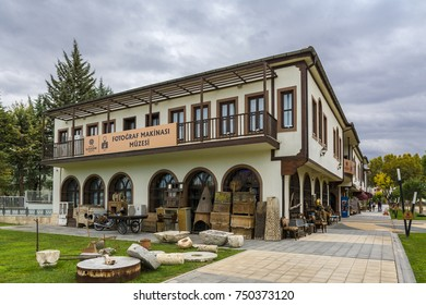 Malatya, Turkey - October 31, 2017 : Art Street view in Malatya. Art Street were build by Malatya Metropolitan Municipality.