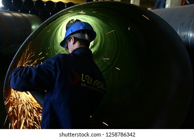 malatya,turkey/turkey - 4.11.2008 steel industy workers in malatya