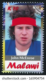 Malawi - CIRCA 2012: stamp printed by Malawi, shows John McEnroe, circa 2012