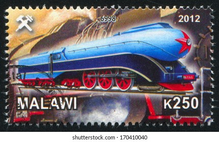 Malawi - CIRCA 2012: stamp printed by Malawi, shows Steam locomotive, circa 2012