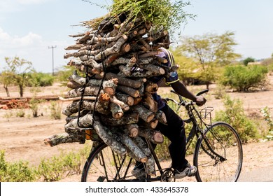 Malawi - Dec 2014: Bicycles are the primary means of transportation for a large majority of people in Malawi. Dec 16, 2014, Malawi.