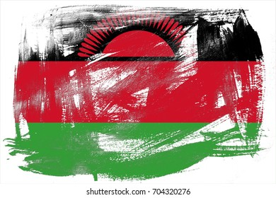 Malawi flag grunge background. Background for design in country flag