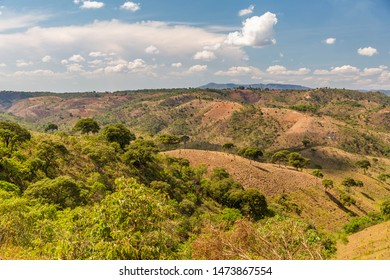 Malawi Landscape, Savannah with mountain in the Background, South-East-Africa