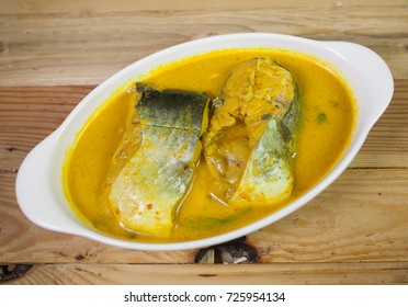 Malay Cooking Ikan Patin or Pangasius suchi fish Malaysian traditional food, The Ikan Patin or scientific name Pangasius Sutchi cooked with coconut milk,spicy chilli mihed with herbs