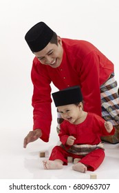 malay family ,father and son