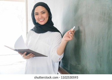 Malay School Teacher at the classroom wearing hijab