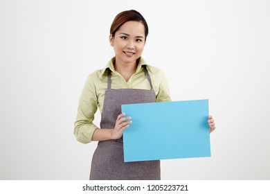 malay woman holding placard
