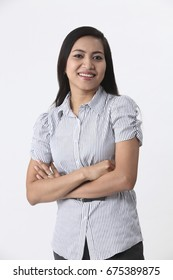 malay woman on the white background