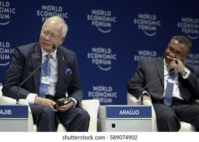 MALAYSIA 01 JUNE 2016 - Prime Minister of Malaysia, Datuk Seri Najib Tun Razak, attending question and answer session of the World Economic Forum (WEF) ranked ASEAN 2016.