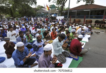 MALAYSIA, 1 September 2017 - Rohingya people pray for security and well-being for their family members in Myanmar after performing prayers in conjunction with Eid Al Adha in Kuala Lumpur.