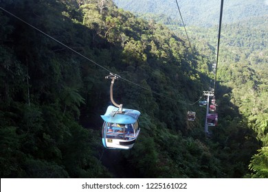MALAYSIA  -16 October : Cable car  Genting Skyway at Genting Highland.The Genting Skyway is one of the two aerial lines serving Genting Highlands.