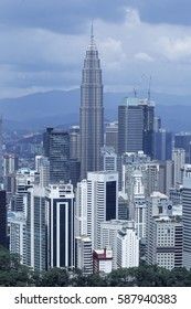 MALAYSIA, 25 February 2017 - Panorama at Kuala Lumpur city.