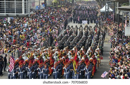 MALAYSIA, 31 August 2017 - Merdeka celebration is held in commemoration of Malaysia's Independence Day at Dataran Merdeka. The parade is one of the most colorful events celebrated annually.