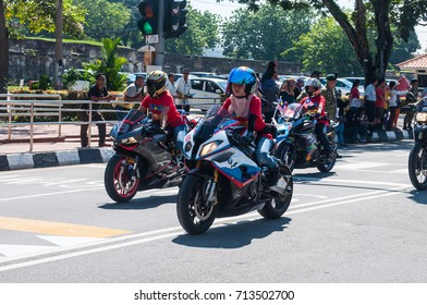MALAYSIA, 31 August 2017 - Merdeka celebration is held in commemoration of Malaysia's Independence Day at Padang Kota Lama. The parade is one of the most colorful events celebrated annually.