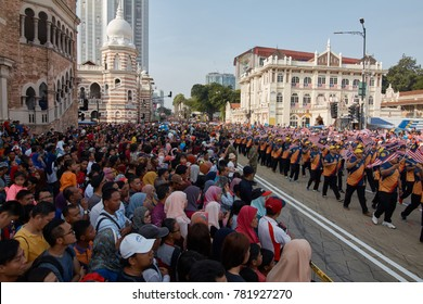 MALAYSIA, 31 August 2017 - Participants of the parade in conjunction with 60th Independence Day celebration in Kuala Lumpur.