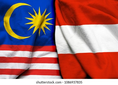 Malaysia and Austria flag together