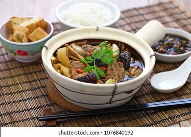 malaysia bak kut teh, traditional chinese herbal pork ribs soup