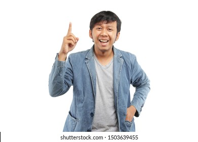 malaysia business man with finger hand one on white background.