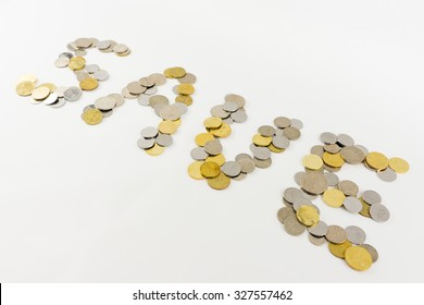 Malaysia coins isolated on the white background