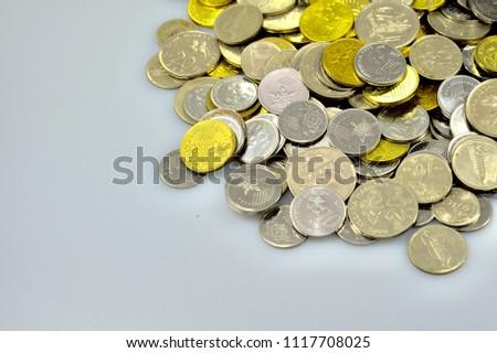 Malaysia Coins Shoot Studio Photo Shoot Stock Photo (Edit
