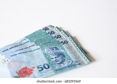 Malaysia Currency (MYR): RM50 isolated with white background