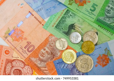 malaysia currency(MYR) isolated on white