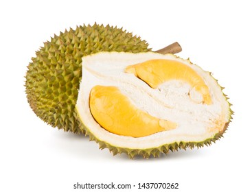 Malaysia durian isolated on white background.