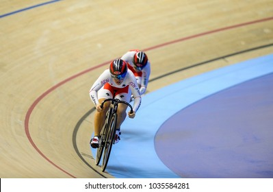 Malaysia, February 16th 2018: Action of Japan athlete in woman category during 38th Asian Track Championships 2018 at National Velodrome in Nilai.